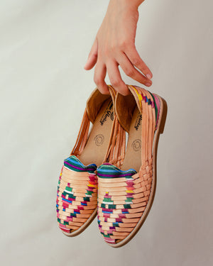 Mexican leather huaraches Vibrant Artisans