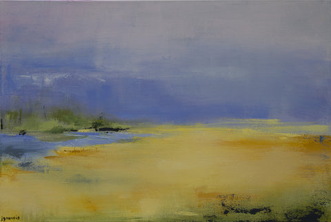 "**Sale/Discount Item**  Original 24""Hx36""W Abstract Landscape Painting - ""To Be Next To You"""