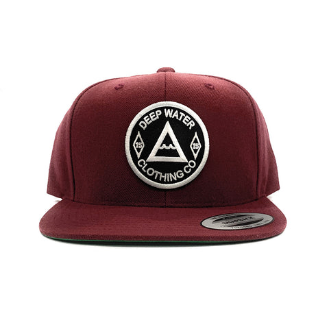 """OG"" Maroon White Patch SnapBack"