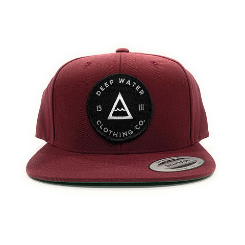 """OG"" Maroon Black Patch SnapBack"
