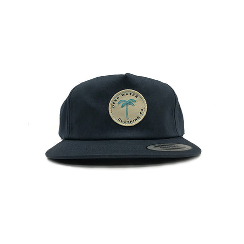 """Paradise"" Navy Unstructured Snapback"