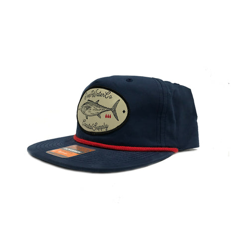 """True Blood"" Navy/Red Unstructured Snapback cap"