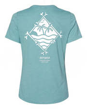 """TROPICAL FEVER"" Women's Heather Teal Shirt"
