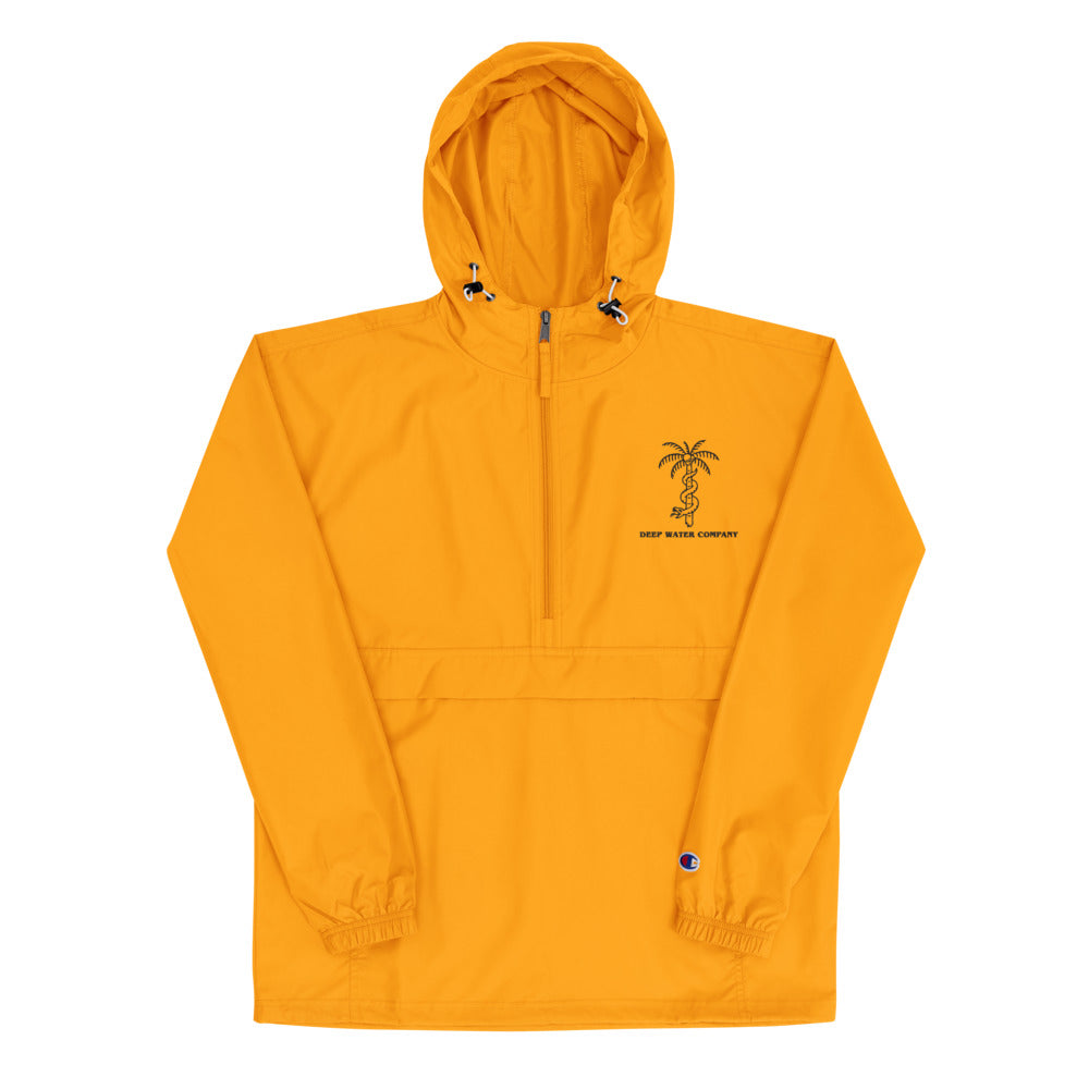 """NO BUENO"" Yellow Embroidered Packable Jacket"