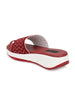Maroon Mesh Net Grip Ring Half Wedges