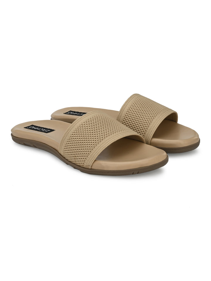 Beige Super Comfortable Matty Slides