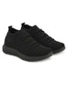 Black Imported Mesh Lycra Running Sneakers