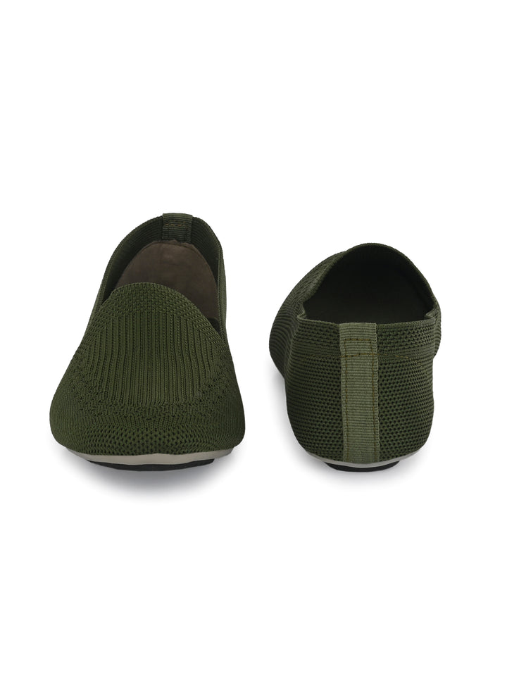 Green Memory Foam Knitted Bellies