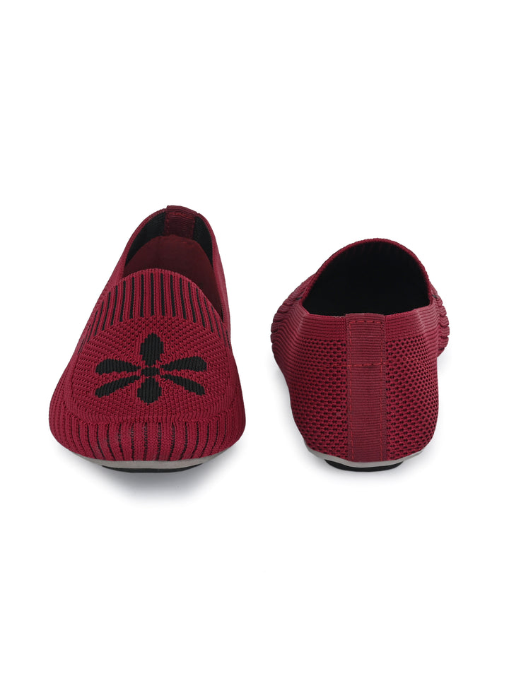 Maroon Memory Foam Knitted Bellies