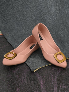 Pink Embellished Patent Leather Bellies