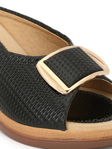 leather look slip-ons - Zachho