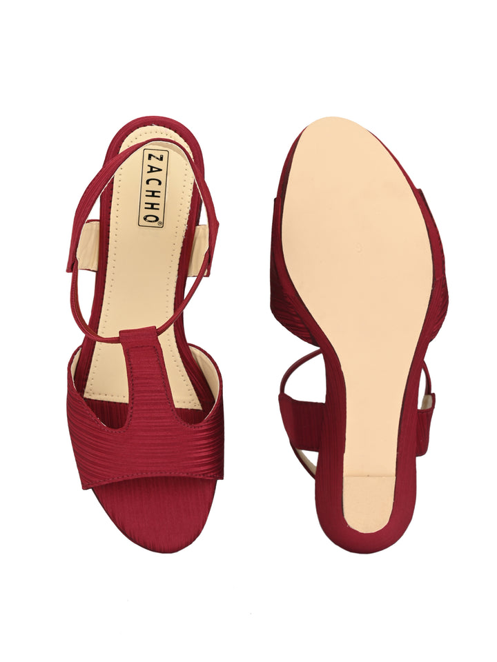 peep-toe stylish casuals - Zachho