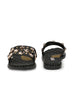 black stones & diamonds embellished slides - Zachho