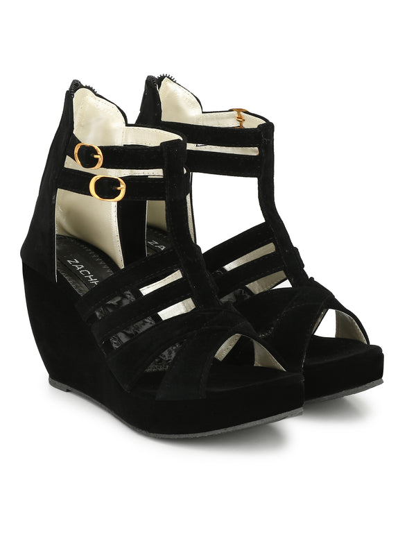 multi strap wedges - Zachho