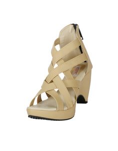 stylish platform heel gladiators - Zachho