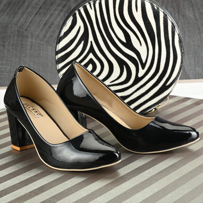 amazing block heel pumps - Zachho