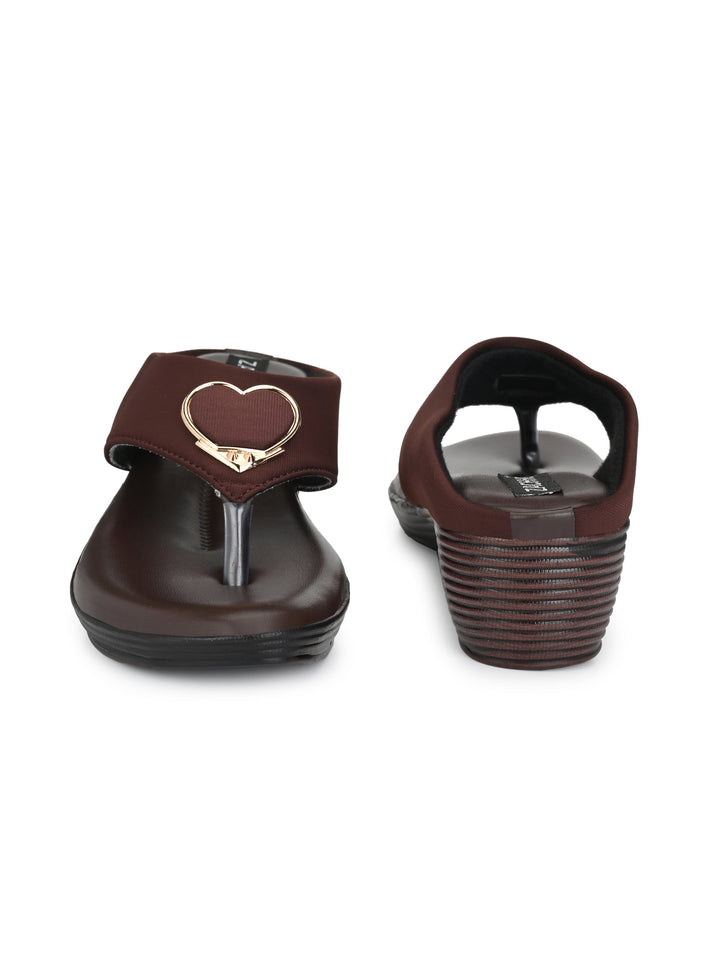 heart buckle embellished toe separators - Zachho