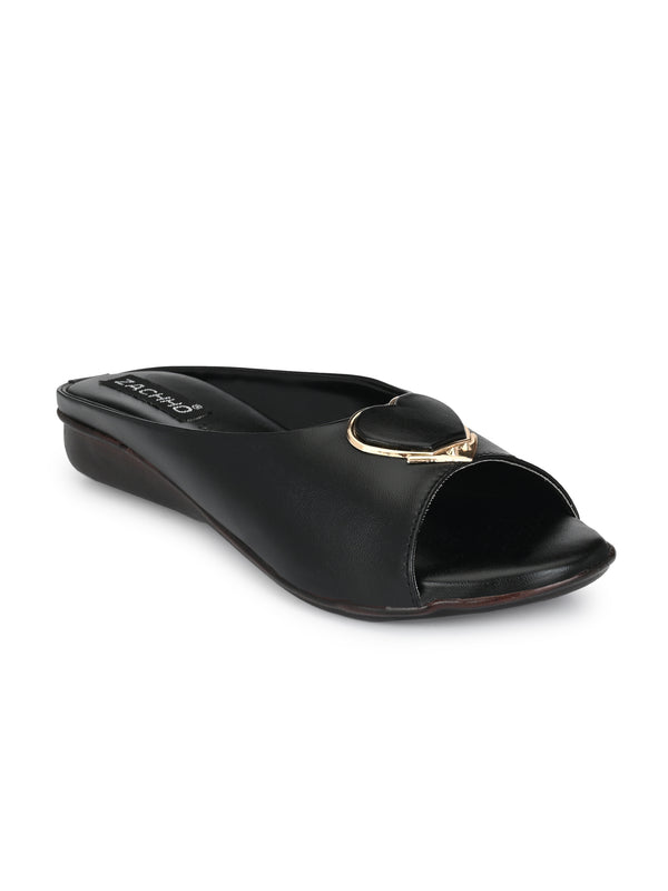 stunning heart buckle extra comfort slip-ons - Zachho