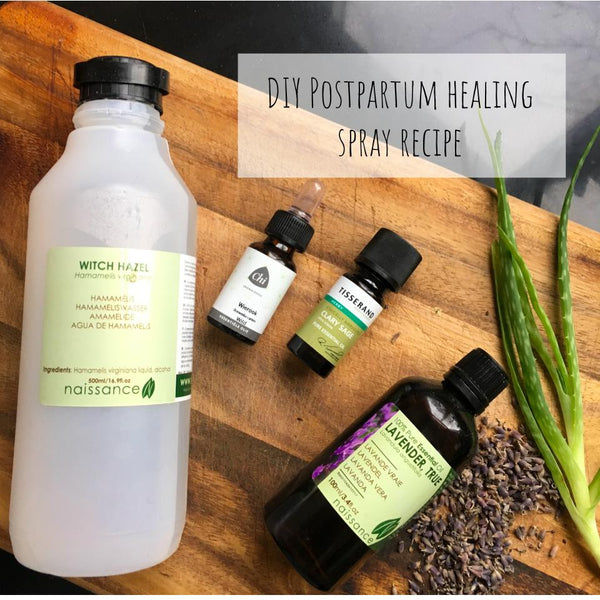 All natural Wild Mamas postpartum healing spray recipe