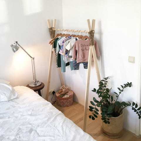 Baby clothes rail