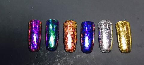 WaveGel Ether Flake Collection - The Nail Art Connection by Tess Walters - Tess Nails.com