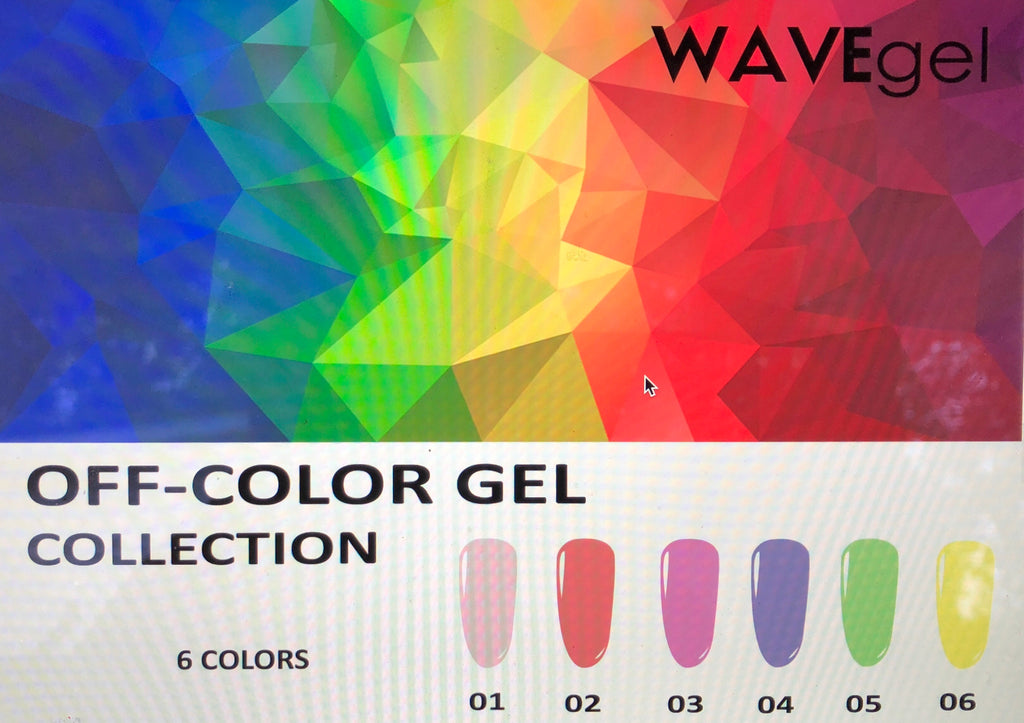 Wave Gel Off Color Collection Full Set - The Nail Art Connection by Tess Walters - Tess Nails.com