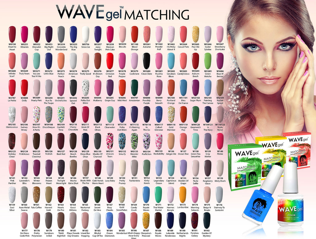 WaveGel Matching Collection - The Nail Art Connection by Tess Walters - Tess Nails.com