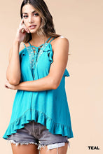 Teal Strappy Tank