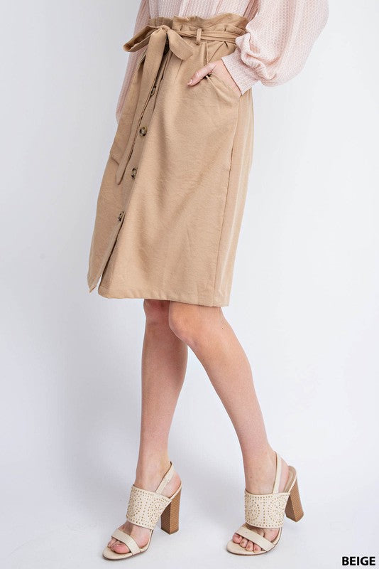 Sugar Bag Khaki Skirt