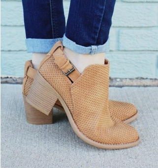 Buckled detail booties