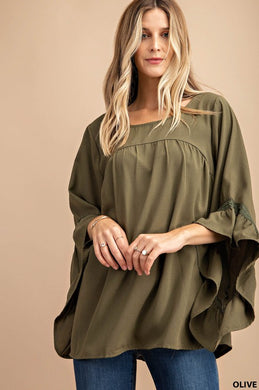Lacey Olive Blouse