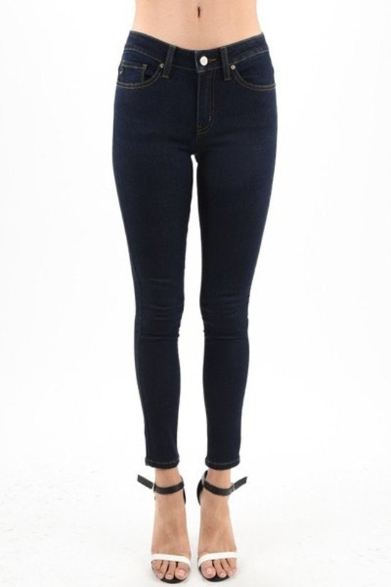 Straight Leg Dark Denim Jean