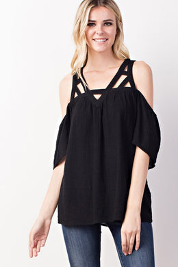 Frenchie Gauze Woven Top