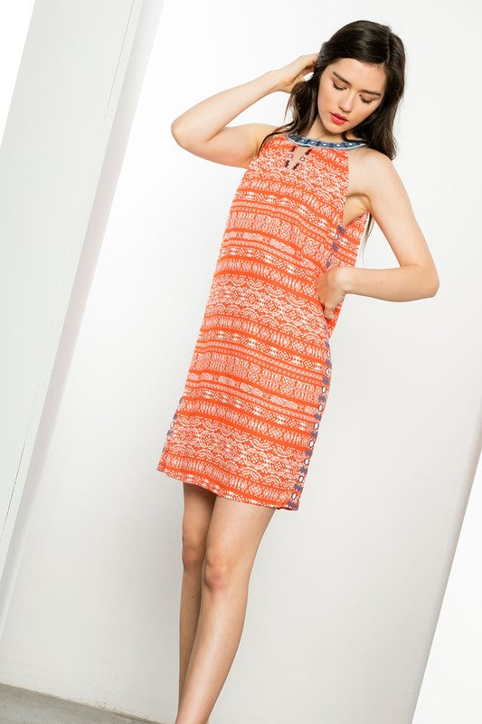 Tangerine Tess A-line Dress