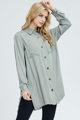 Ame Raw Edge Tunic Dress