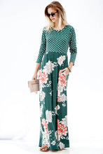 Polka Dot Floral Maxi Dress