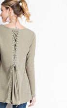 Hacci Knit Olive Shirt