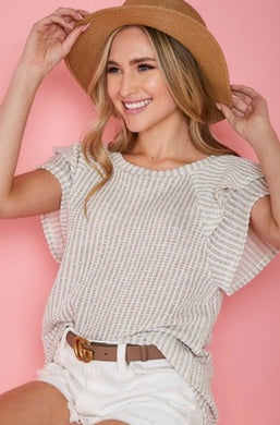 Maura Ruffle Knit Top