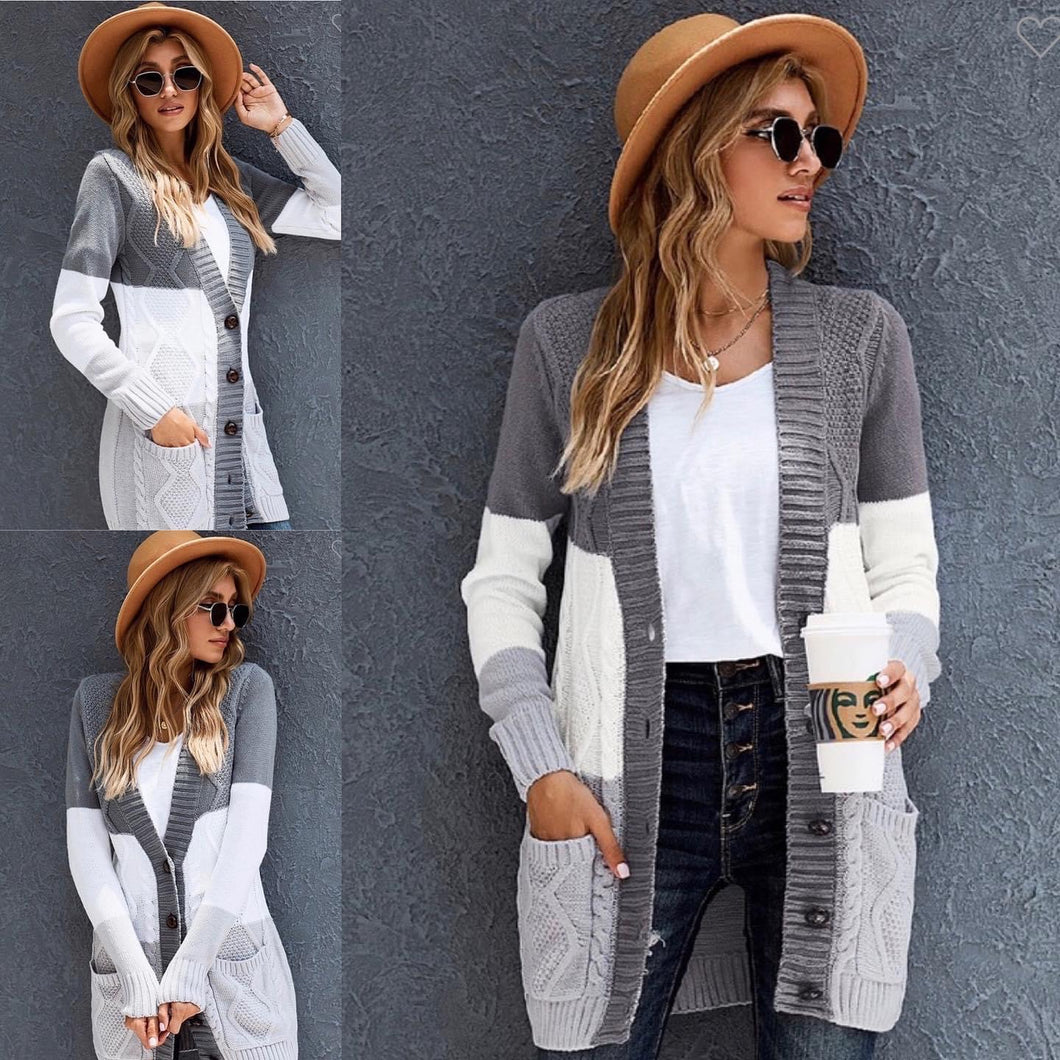 Chelsea Color Block Cardigan