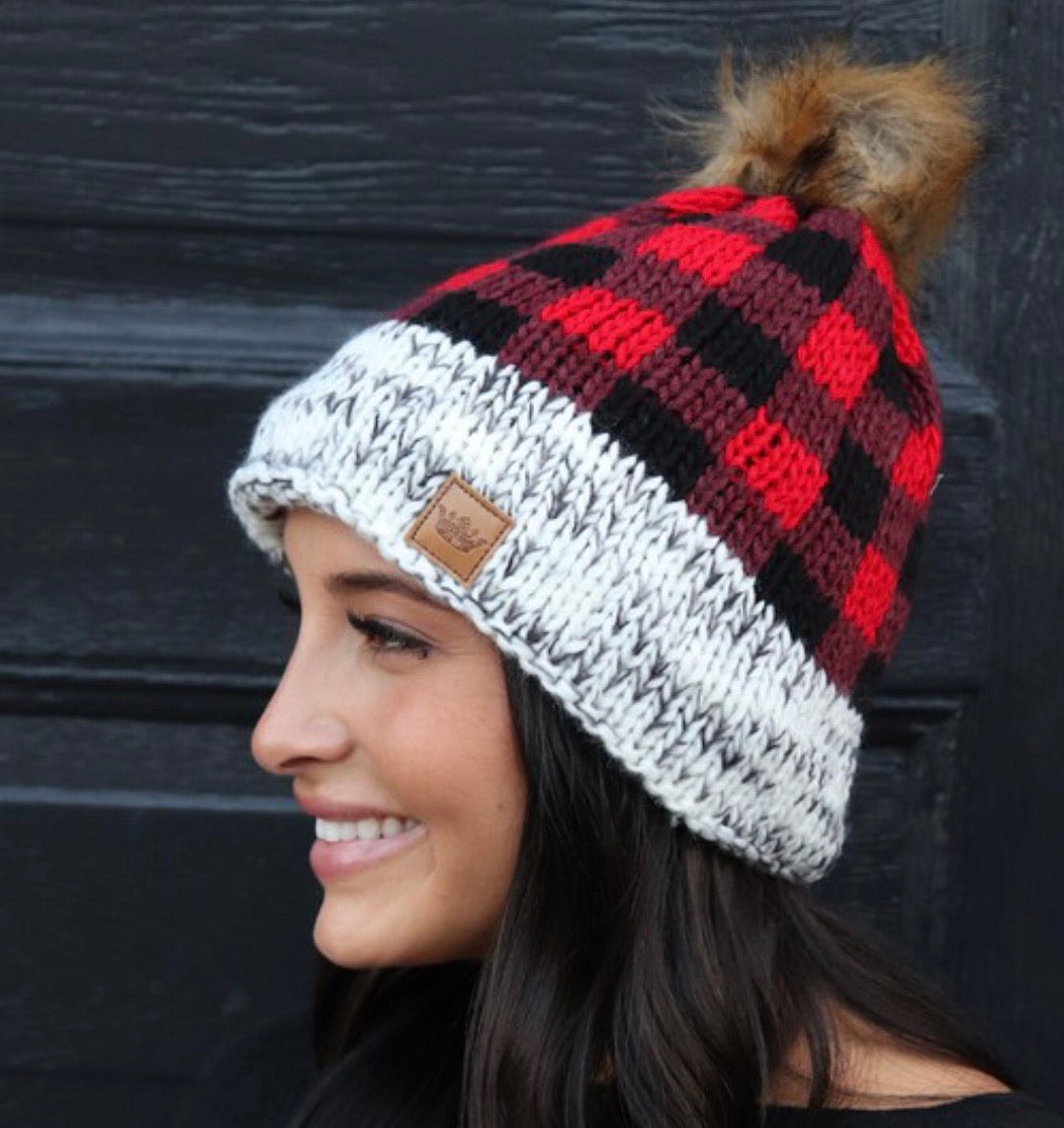 Fleece Lined Knit Hat