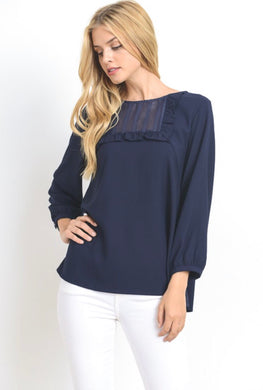 Rae' Navy Blouse