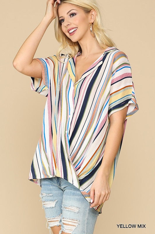 Multi stripe summer top