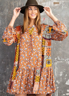 Blooming Vintage Tunic Dress