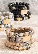 Faux Leather Bead Bracelet