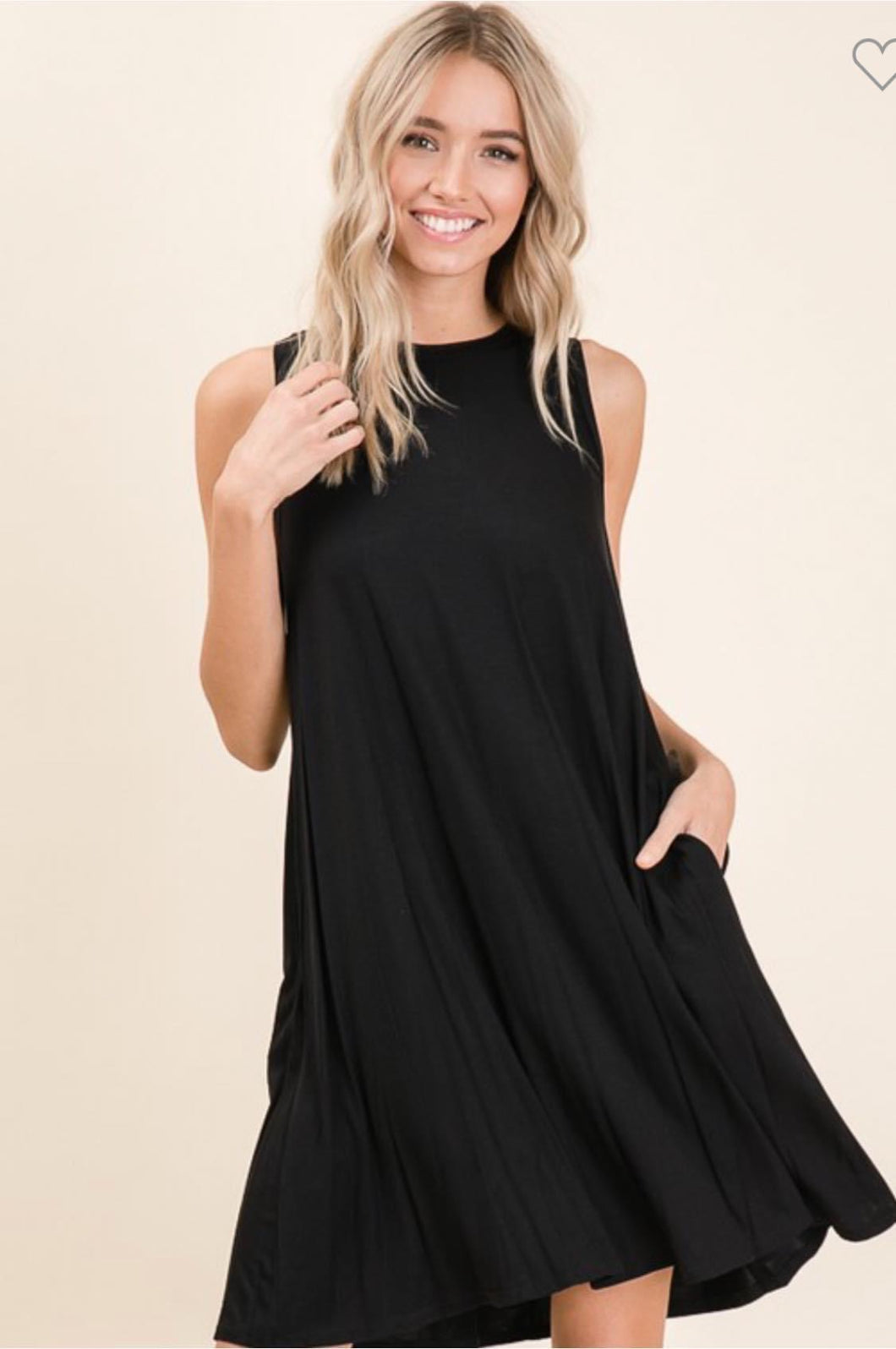 Laurel Sleeveless Swing Dress