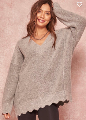 Marci Scalloped Sweater