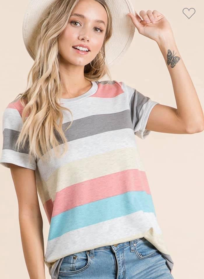 Bethany Striped Top
