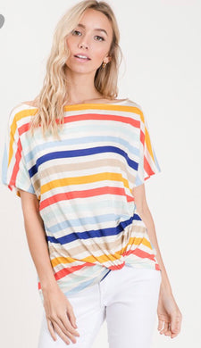 April Multi Stripe Top