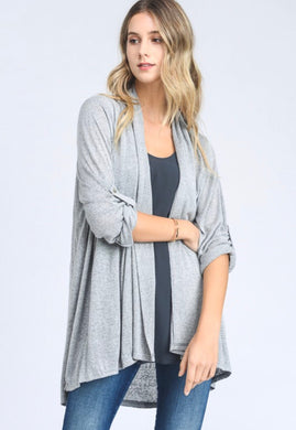 Bella Grey Cardigan