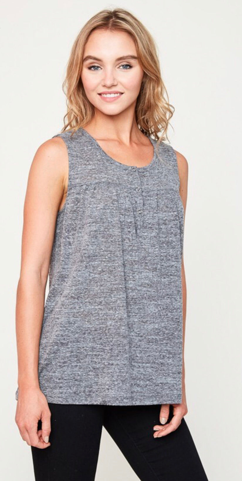 Grey Burnout Tank Top